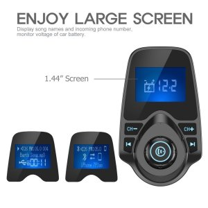 Nulaxy Wireless In-Car Bluetooth FM Transmitter