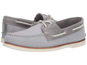 Grey Sperrys Boat Shoes