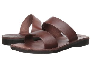 Brown Leather Sandals Men's
