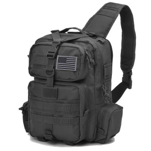 Black Military Bag Crossbody