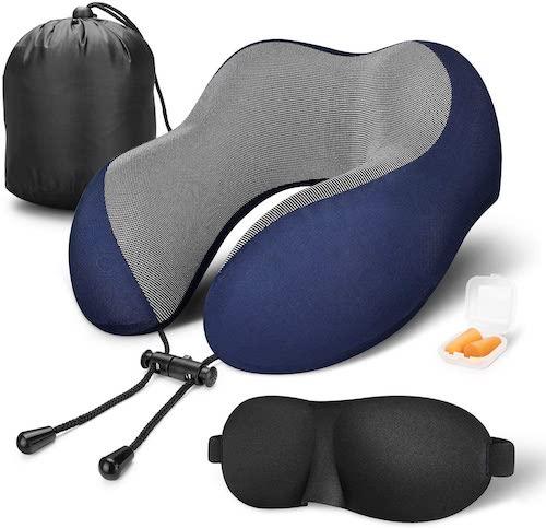 MLVOC Travel Pillow With Travel Kit, best travel pillows