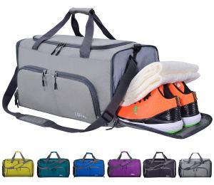 Grey Gym Bag Shoe Compartment