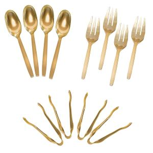 Gold Disposable Utensils for serving
