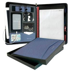 Zippered Leather Padfolio