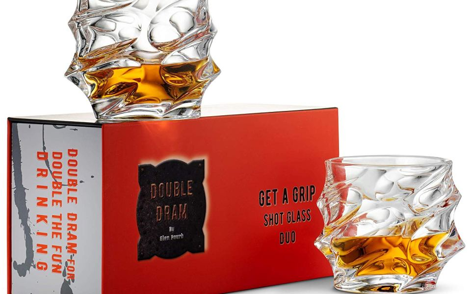 Double Dram Crystal Whiskey Glasses