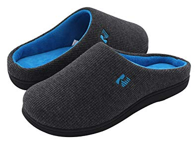 Men's Rockdove Two-Tone Memory Foam Slippers