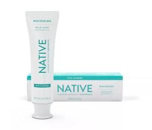 Native Whitening Wild Mint & Peppermint Oil Fluoride Toothpaste, Best Toothpaste