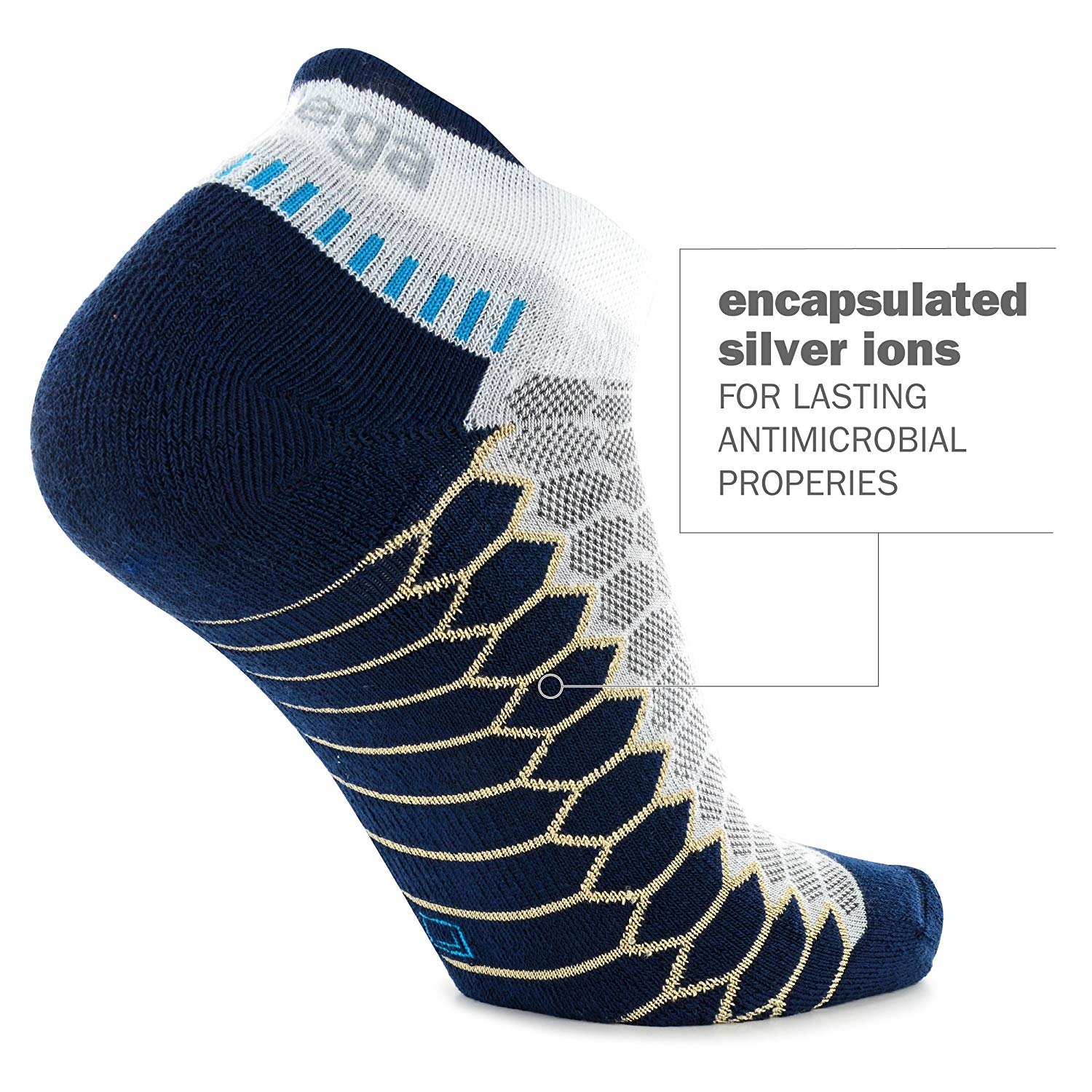 silver antimicrobial running socks