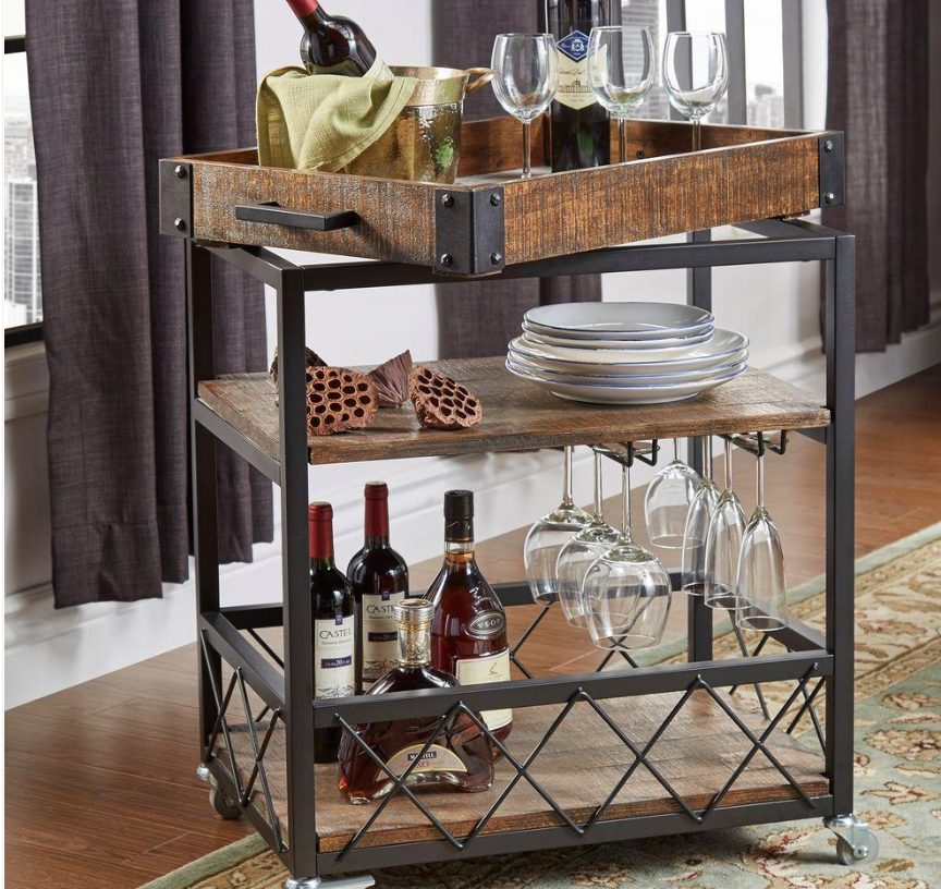 home depot bar cart decor