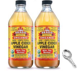 Bragg USDA Organic Raw Apple Cider Vinegar, remove skin tags at home