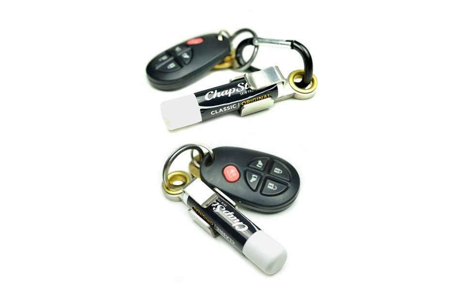 chapstick holder for keychain screwpop