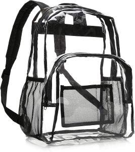 best clear backpacks amazonbasics