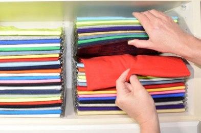 closet organizing hack file folders