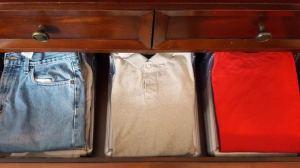 closet organization how to shirt folder