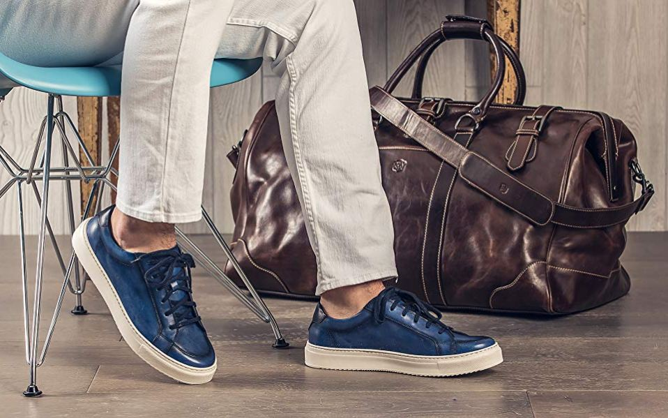 Moral Code Leather Sneakers