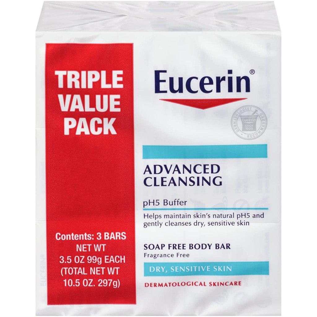 eucerin advanced body bar for sensitive skin fragrance free