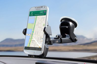 keep your eyes on the road with these car phone mounts
