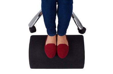use these foot rests under your desk to take a load off your feet at work