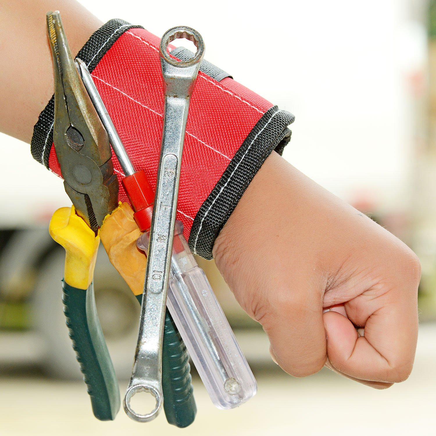 magnetic tool holder wrist band