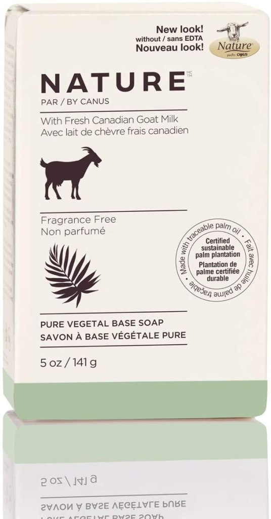 Nature by Canus pure vegetal base soap with goat milk fragrance free