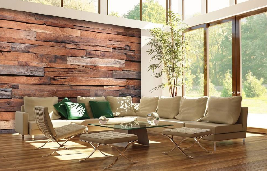 reclaimed wood wall mural home depot