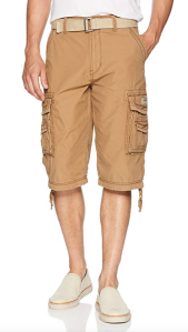 Khaki Cargo Shorts Long