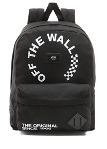 Black Backpack Vans Logo
