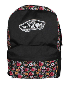 Floral Backpack Vans Logo