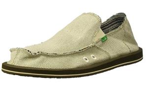 Sanuk Hemp Slip-On Shoes tan