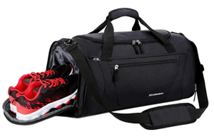 Black Gym Bag Shoe Compartment