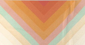 Rainbow Chevron Beach Towel