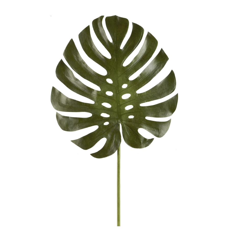 Faux palm leaf