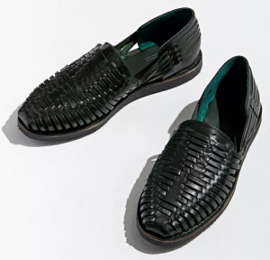 best huaraches for men - black leather sandals men's woven