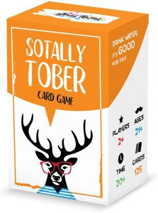 sotally tober drinking card game, drinking card game