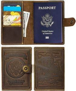 travel wallet passport holder Amazon villini