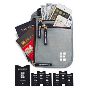 travel wallet passport holder Amazon zero grid