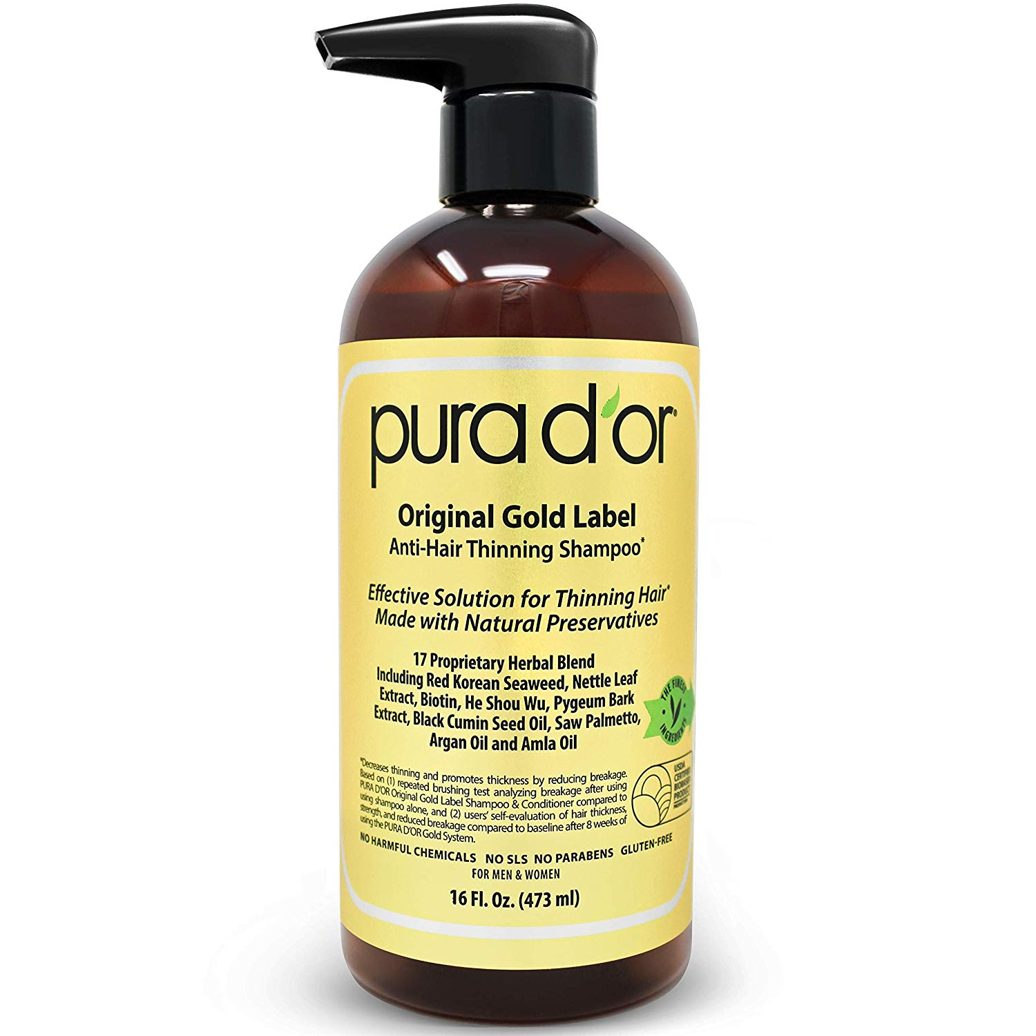 Pura d'or original gold label anti-hair thinning shampoo