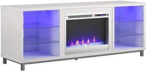 Ameriwood Home Lumina Fireplace TV Stand