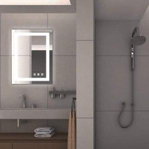 Bonnlo Dimmable Led Illuminated Bathroom Mirror