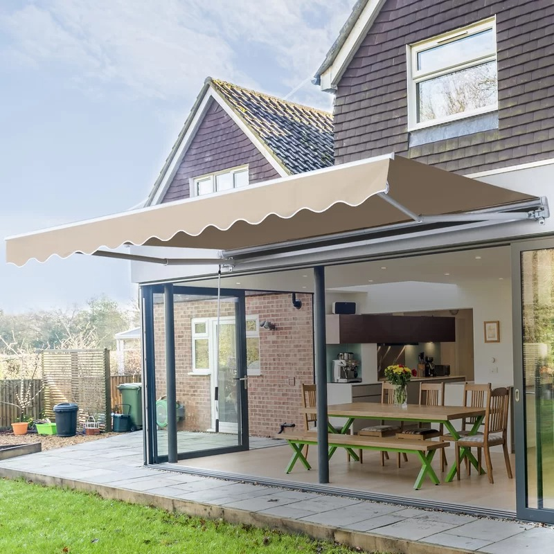 Manual Retraction Slope Patio Awning by Outsunny
