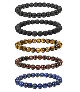 FIBO STEEL Natural Healing Stone Bracelets