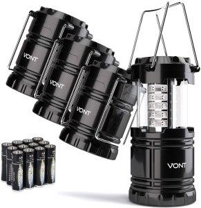 camping lanterns vont 4 pack