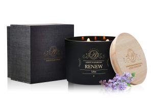 Aubert & Amandine Renew Lilac Luxury Scented 3 Wick Soy Candle