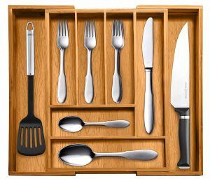best kitchen organizer bamboo utensil
