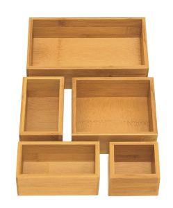 best kitchen organizer bamboo boxes