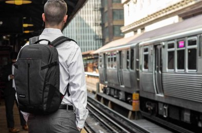 commuter backpack is sweat-proof, waterproof and theft-proof