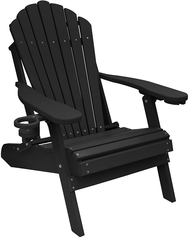 ECCB Outdoor Deluxe Folding Adirondack Chair