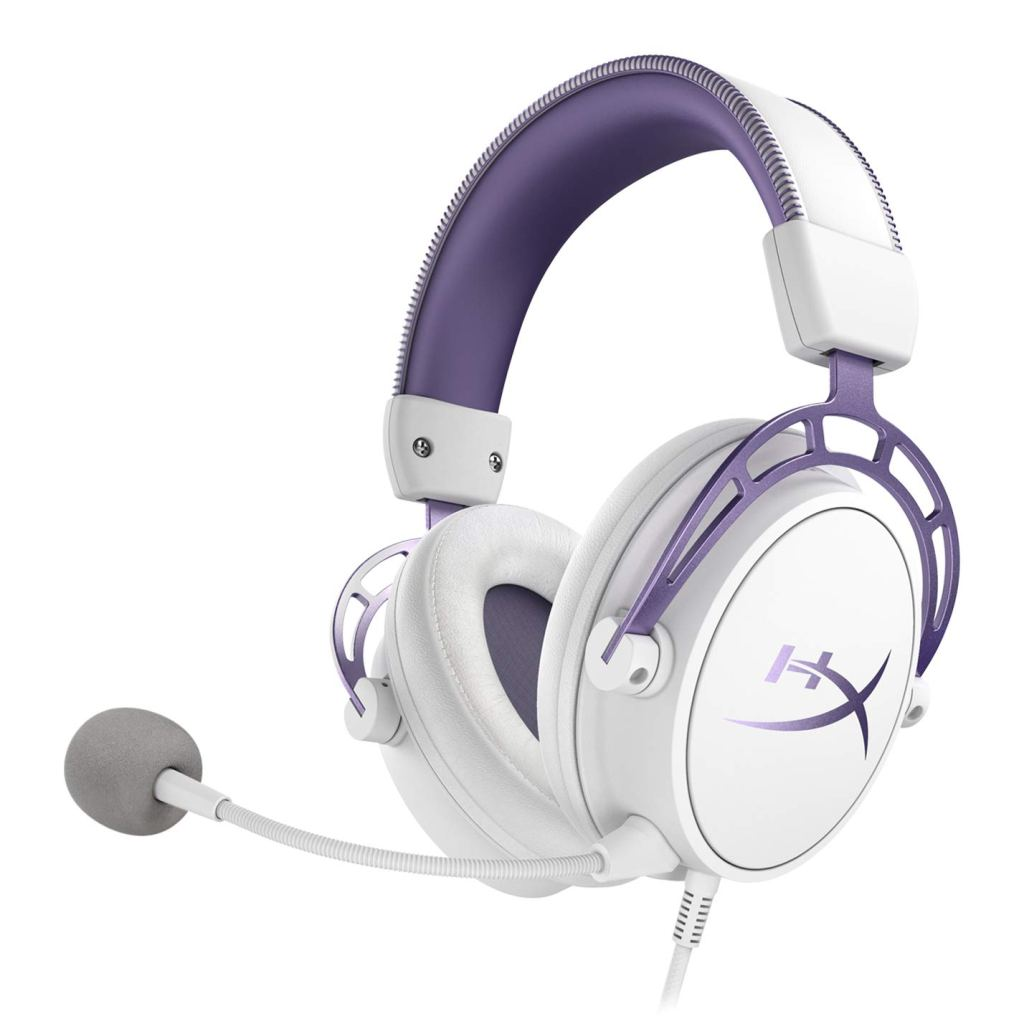 hyperx cloud alpha headset purple