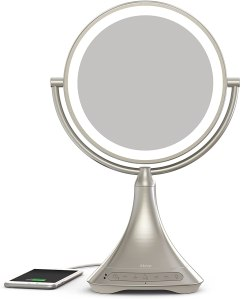 iHome All-in-One Double-Sided Vanity Mirror