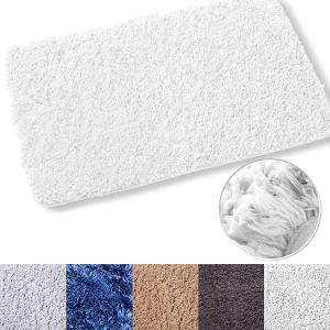 Luxe Rug White Plush Shower Mat